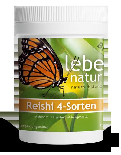 Lebe Natur Reishi 4-Sorten