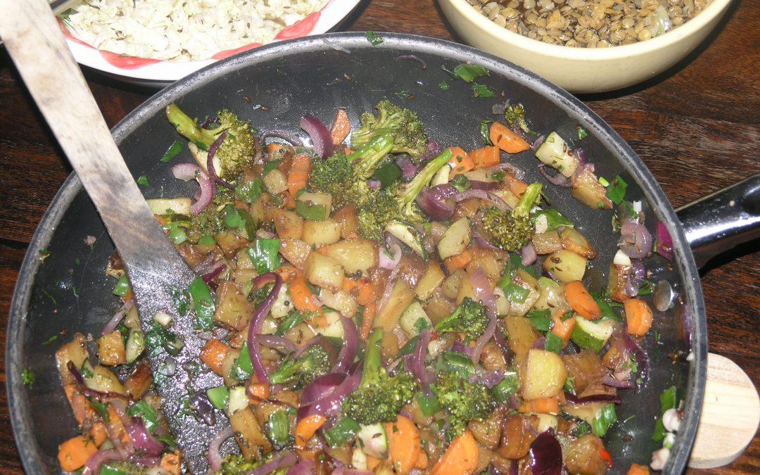 Ayurvedisch Europäisches Rezept: Kartoffel-Gemüsepfandl