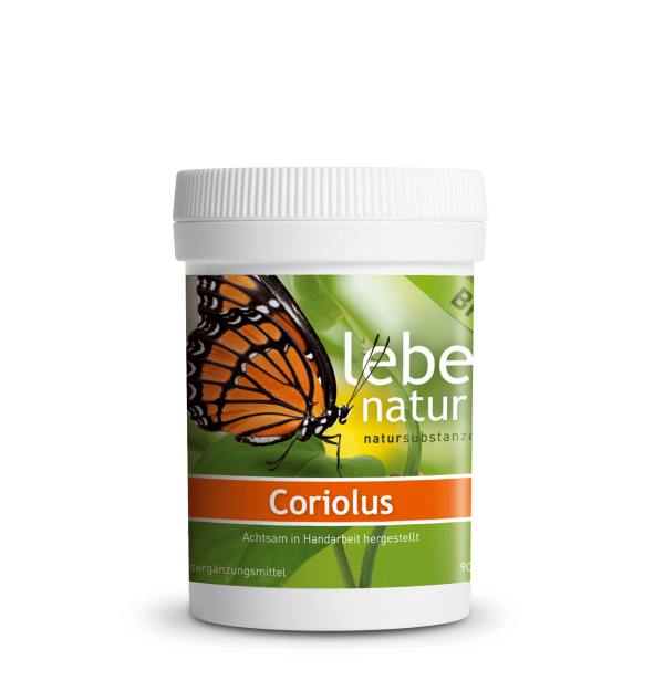 lebe natur® Coriolus Pilz BIO 90er-min