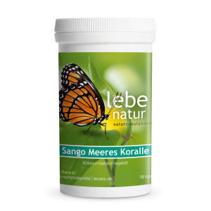 lebe natur® Sango Meeres Koralle mit Vitamin K2 180er-min