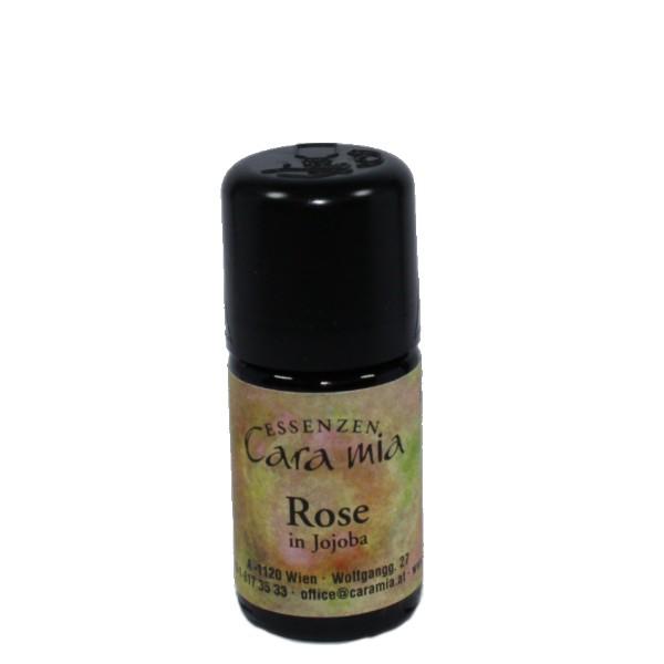 Rose-in-jojoba-ätherisches öl