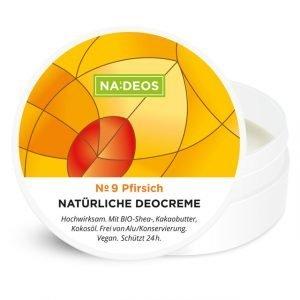 Natürliche Deocreme von Nadeos mit frischem Pfirsichduft